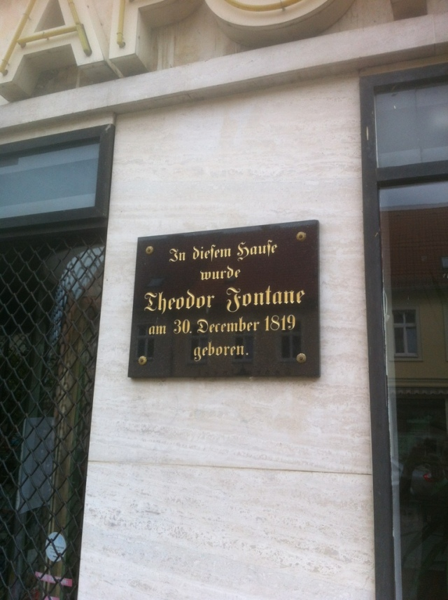 Geburtshaus Theodor Fontane #Literatur #Stechlin