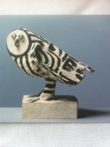 Pablo Picasso, Die Eule - La chouette, 1952. Foto von einer Kunstpostkarte: nw2013