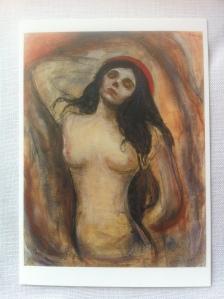 Edvard Munch, Madonna (Liebende Frau), 1894. Foto von einer Kunstpostkarte: nw2013