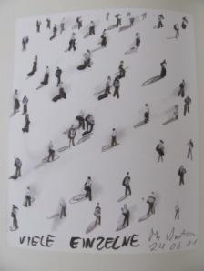 Thomas Hartmann: Viele Einzelne, Zeichnung vom 24. Juni 2011 Foto nw2014