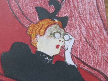 "Toulouse-Lautrec: Detail aus ""Die Loge mit der Goldmaske"" Foto: nw2014"