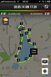Laufstrecke Außenalster Hamburg Foto: nw2014