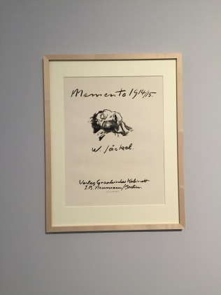 """Titelblatt des Mappenwerks """"Memento 1914/15"""" (10 Lithografien) von Willy Jaeckel Foto: nw2014"""