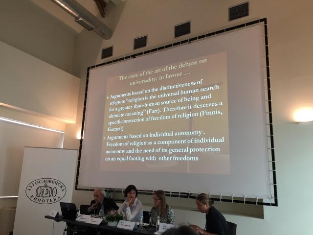 Panel zur Religionsfreiheit Foto: nw2015
