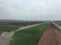 Auschwitz-Birkenau: Blick aus dem Hauptwachturm Foto: nw2016
