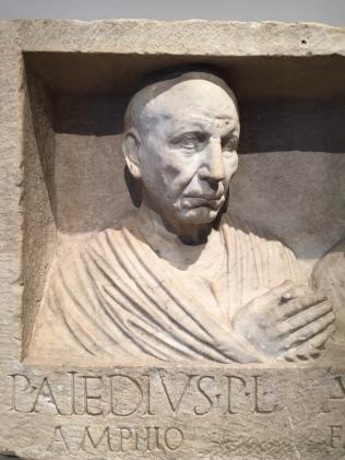 Grabrelief des Publius Aiedius Amphio (und seiner Frau) Foto: nw2016