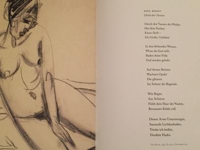 Ernst Ludwig Kirchner, Liegende nackte Frau, 1913 / Paul Boldt, Gleich den Tannen, 1912 | Foto: nw2017