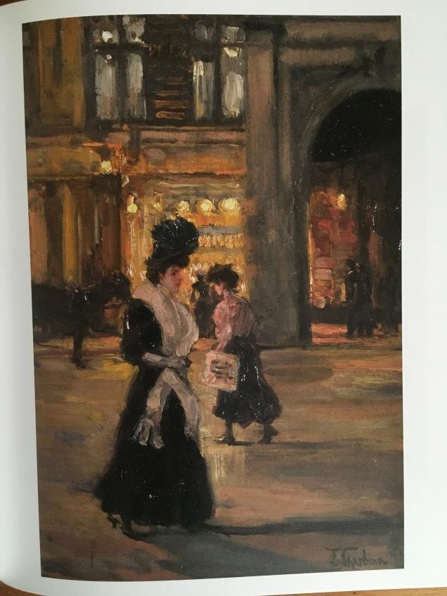 Frank Skarbina, Frau auf nächtlicher Straße (1908) | Foto: nw2017
