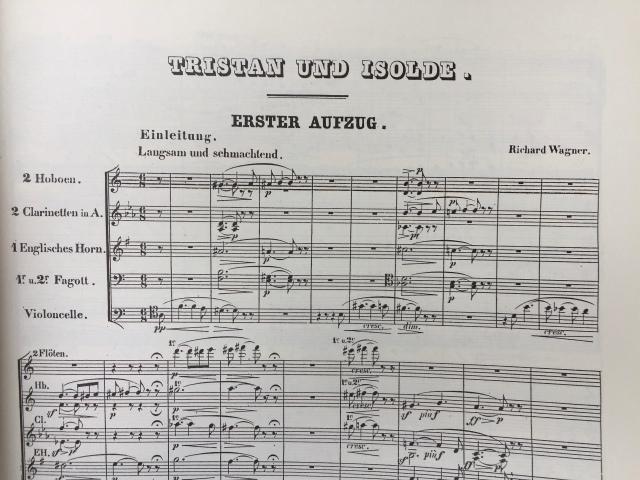 Richard Wager, Tristan und Isolde. Beginn der Partitur | Foto: nw2018